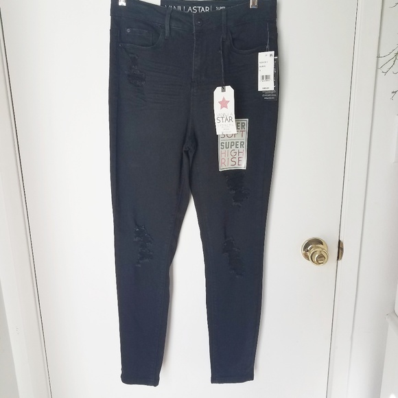 Vanilla Star Denim - Vanilla Star Super High Rise Black Jegging NWT